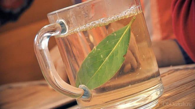 Заваренный в стакане лавровый лист